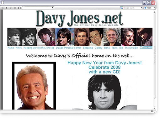 Official Davy Jones Website