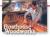 Boathouse Woodworks logo design