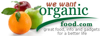 We Want Organic Food logo